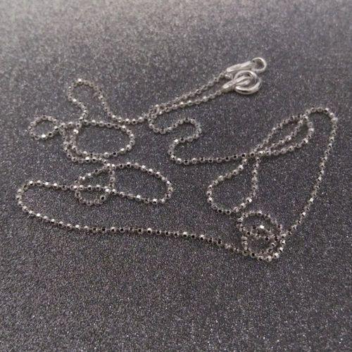 Łańcuszek srebrny kostka SL05-A, kolor szary