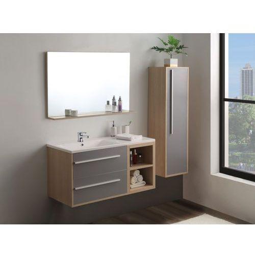 Vente-unique Zestaw jasmine – meble łazienkowe – kolor drewna i biały