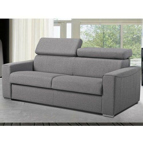 Rozkładana 3-osobowa sofa express VIZIR z tkaniny – Kolor szary – Powierzchnia do spania 140 cm – Materac 14 cm, kolor szary