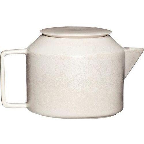 Hübsch Dzbanek do herbaty beżowy ceramiczny (5712772104569)