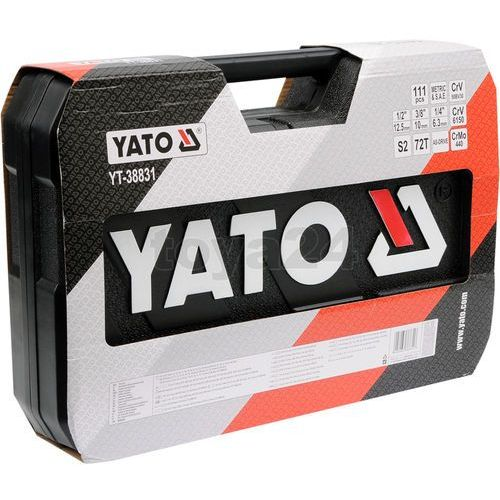 Zestaw narzędziowy xl 1/4'' 3/8'' 1/2'' 111części Yato YT-38831 /Bezpieczne zakupy/ 20 lat na rynku/ (5906083388316)