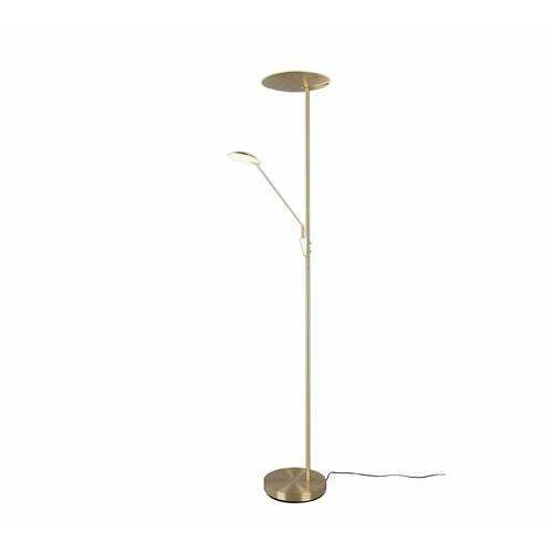 Trio edmonton 423010208 lampa stojąca podłogowa 1x33w+1x7,5w led brązowa