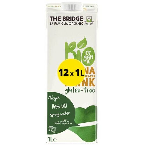 The bridge Napój mleko owsiane bezglutenowe 12x1l eko (7,30zł za 1szt.)