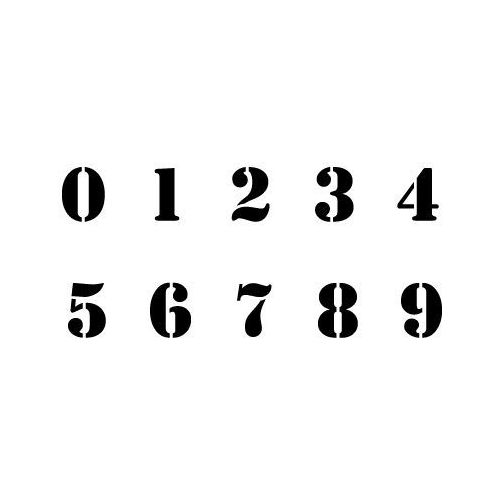 Szabloneria Cyfry - stamp komplet 10 szablonów w różnych rozmiarach, różne wielkości