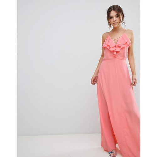 New look ruffle maxi dress - orange