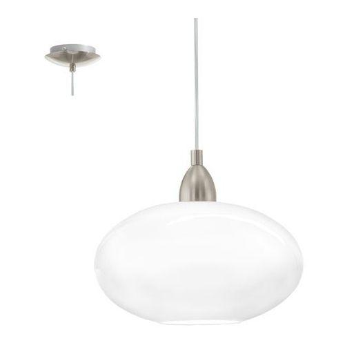 87059 - lampa wisząca brenda 1xe27/60w biały marki Eglo