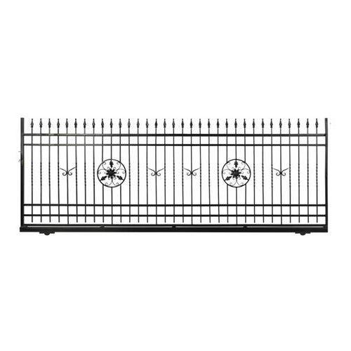 Brama przesuwna bez przeciwwagi flores 400 x 150 cm prawa marki Polbram steel group