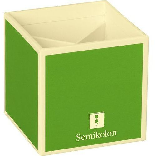 Pojemnik na długopisy die kante limonkowy marki Semikolon