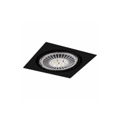 Shilo Wpust lampa sufitowa komoro h 3349/g53/cz podtynkowa oprawa kwadratowa oczko regulowane czarne (1000000340600)