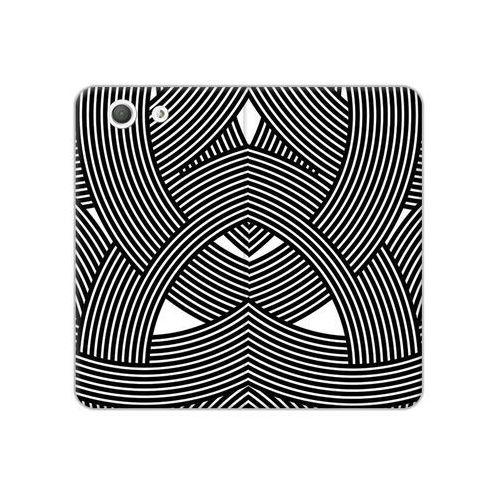 Sony xperia z3 compact - etui na telefon flex book fantastic - biało-czarna mozaika marki Etuo flex book fantastic