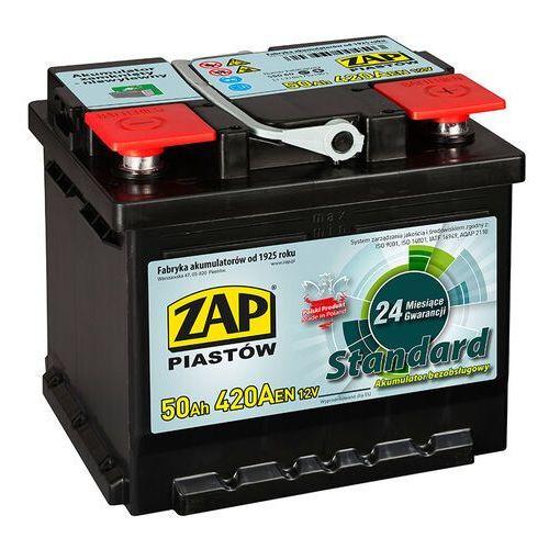 Akumulator ZAP Standard 50Ah 420A PRAWY PLUS