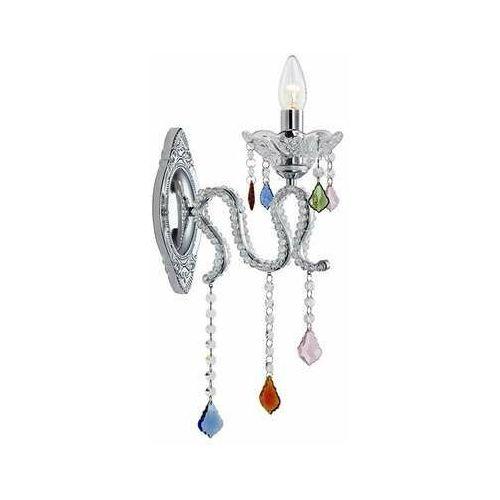 Markslojd Pałacowa lampa ścienna caramel 107072 świecznikowa oprawa z kryształkami crystal multikolor