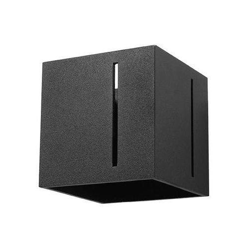 kinkiet LAMPA ścienna SOL SL397 metalowa OPRAWA kostka kwadratowa cube czarna