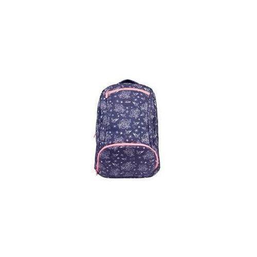 Plecak MILAN duży 28 l. FLOWERS niebieski, kolor niebieski