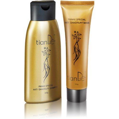 Zestaw z ekstraktem z żeń-szenia: szampon (220 g) + odżywka (100 g) TianDe, td-20101