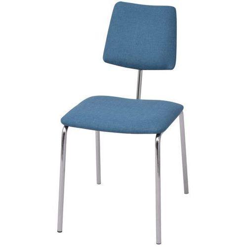 Krzesło jadalniane materiałowe, niebieskie