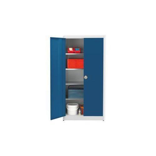 Szafa magazynowa, wys. x szer. 1950x950 mm, gł. 420 mm, obudowa jasnoszara, drzw