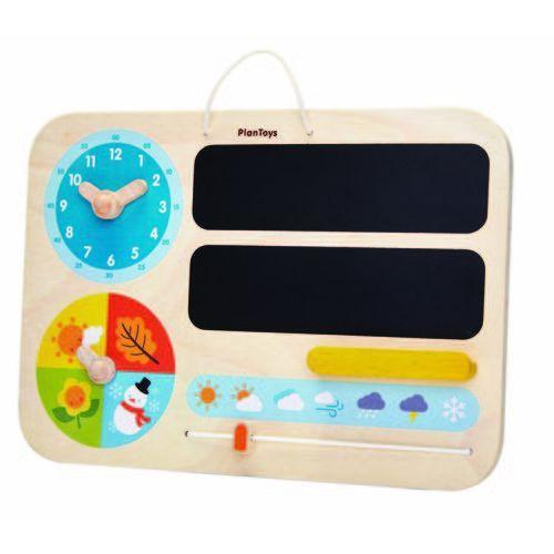 Mój pierwszy kalendarz, zabawka drewniana, , plto-5359 marki Plan toys