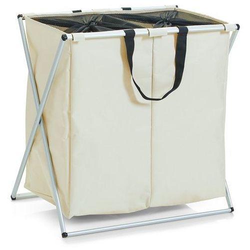 Pojemnik na pranie, 2 komorowy kosz na brudną bieliznę 128 litrów, ZELLER