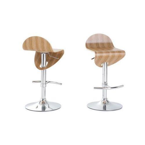 Hoker brązowy - hoker barowy - krzesło barowe - LIVERPOOL - produkt z kategorii- Hokery