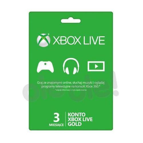 Subskrypcja Xbox Live Gold (3 m-ce karta zdrapka)