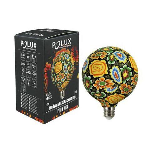 Żarówka dekoracyjna LED E27 (230 V) 4 W folklor kwiaty POLUX