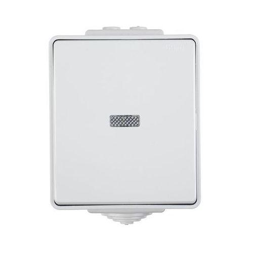 Efapel Włącznik pojedynczy z podświetleniem szary ip65 waterproof (5603011586904)