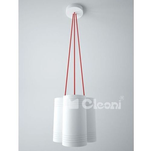 Lampa wisząca celia b3d z zielonymi przewodami, 1271b3d+ marki Cleoni