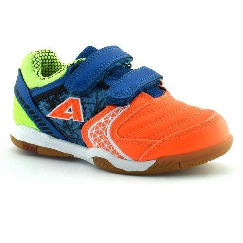 Chłopięce buty sportowe American Club 170620 - Niebieski ||Pomarańczowy, kolor niebieski