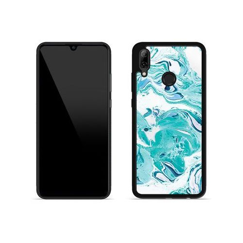 Huawei p smart (2019) - etui na telefon aluminum fantastic - niebieski marmur marki Etuo aluminum fantastic