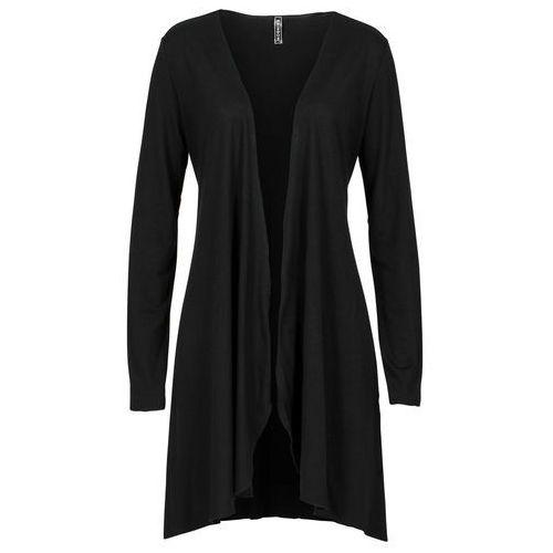 Shirt bez zapięcia bonprix czarny, kolor czarny