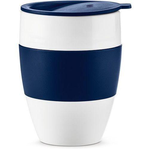 Kubek termiczny Aroma To Go 2.0 biały i welwetowy błękit, kolor biały
