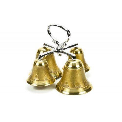 Dzwonek mszalny mosiężny, poczwórny, dwutonowy, URJM D-9