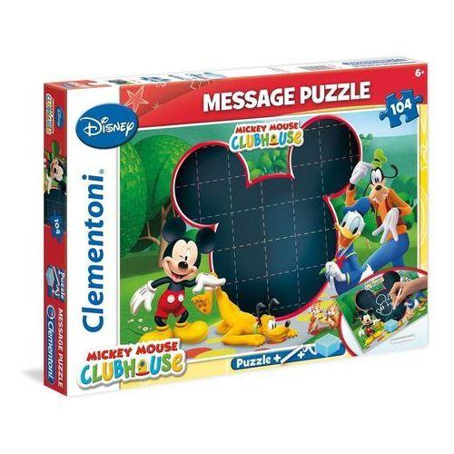 Puzzle 104 Message Klub przyjaciół Myszki Mickey, AM_8005125202324