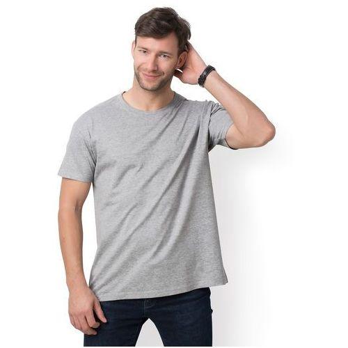 Męska koszulka (bez nadruku, gładka) - szara (melanż), w 5 rozmiarach