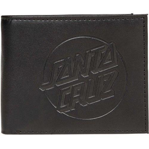 Santa cruz Portfel - embossed dot wallet black (black)