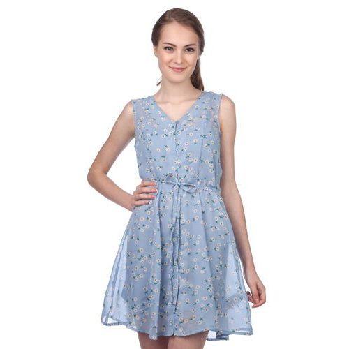 Brave Soul sukienka damska Trudy M niebieski, kolor niebieski