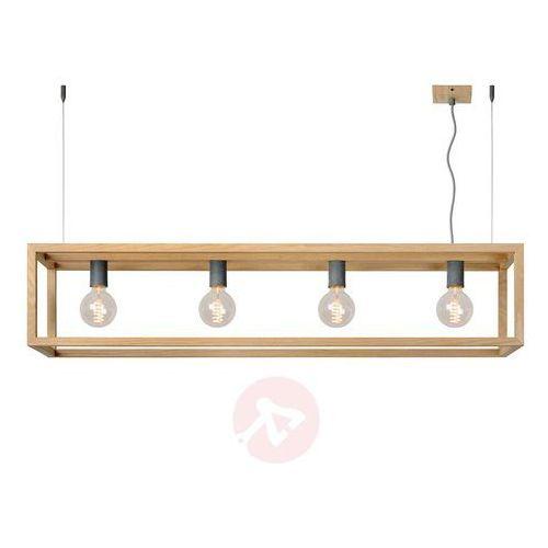 Lucide oris lampa wisząca ciemne drewno, 4-punktowe - nowoczesny - obszar wewnętrzny - oris - czas dostawy: od 4-8 dni roboczych
