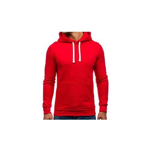 Bluza męska z kapturem czerwona Denley 02, kolor Czerwony