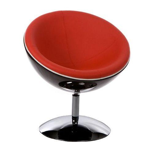 Fotel Sphere Kokoon Design czarno-czerwony, kolor czerwony