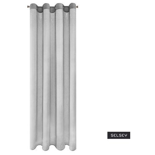 Selsey firana na przelotkach yanthus 140x250 cm srebrna