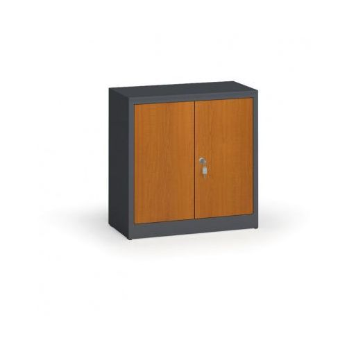 Szafy spawane z laminowanymi drzwiami, 800 x 800 x 400 mm, ral 7016/czereśnia marki Alfa 3