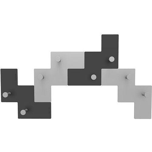 Wieszak ścienny Clo Clo CalleaDesign czarno-szary (13-001-5)