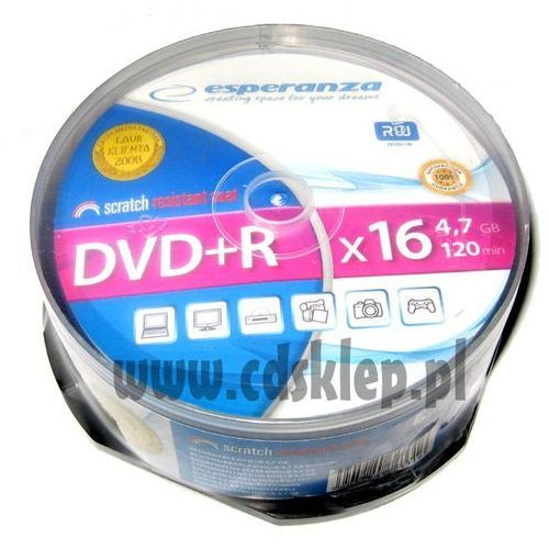Esperanza Dvd+r 4.7gb x16 szpula 25szt.