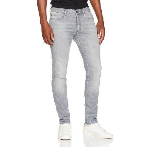Hugo Men mężczyźni Straight dżinsy, kolor: srebrny, rozmiar: W34/L34, proste