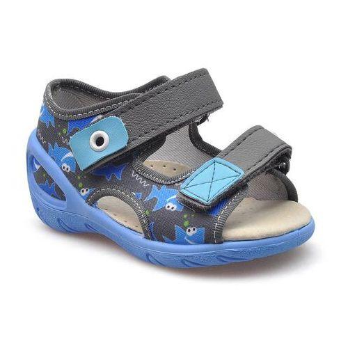 Sandałki dziecięce 065p128 niebieskie marki Befado