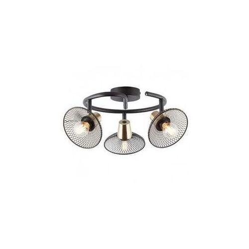 Brilliant Gordon 97198/72 plafon lampa sufitowa 3x40W E14 czarna
