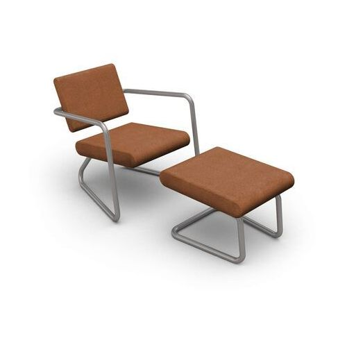Lonc steeler, fotel dinamica classica, brązowy, rama srebrna, indoor p 055 1022 (8719747653364)
