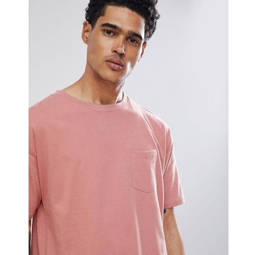 join life t-shirt in pink with pocket - pink marki Pull&bear
