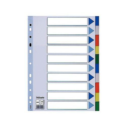 Przekładki plastikowe A4 Esselte 10 kolorów 15261